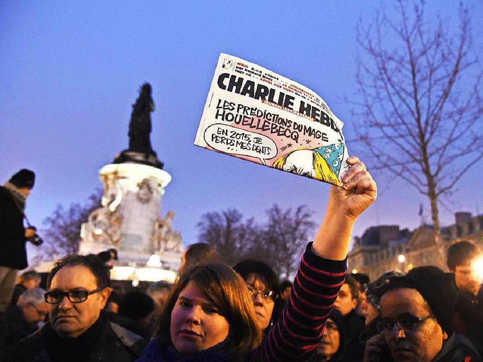 Die Charlie-Hebdo-Attentäter handelten...isungen  werden IS-Mitglied zugeordnet  | Foto: AFP