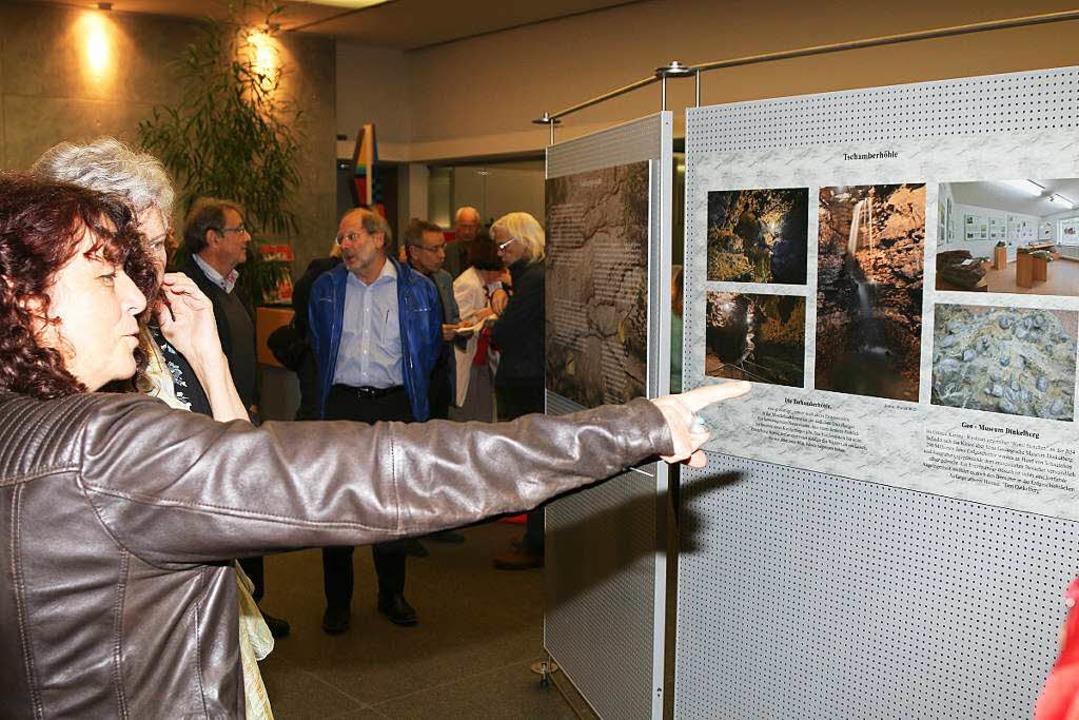 Auf Schautafeln werden Besonderheiten ...Ausstellungseröffnung Beachtung fanden  | Foto: Hans-Jürgen Hege