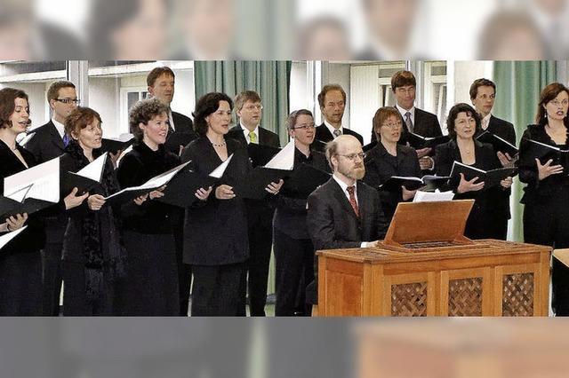 Die cappella vocale würzburg singt in Freiburg-Opfingen und in Hinterzarten