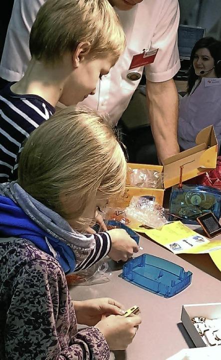 Mitmachaktionen gibt es für Kinder.  | Foto: messe