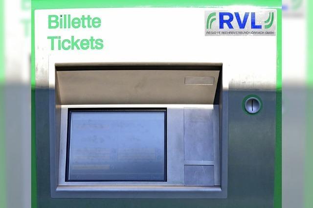 Tram-Ticket mit Kreditkarte