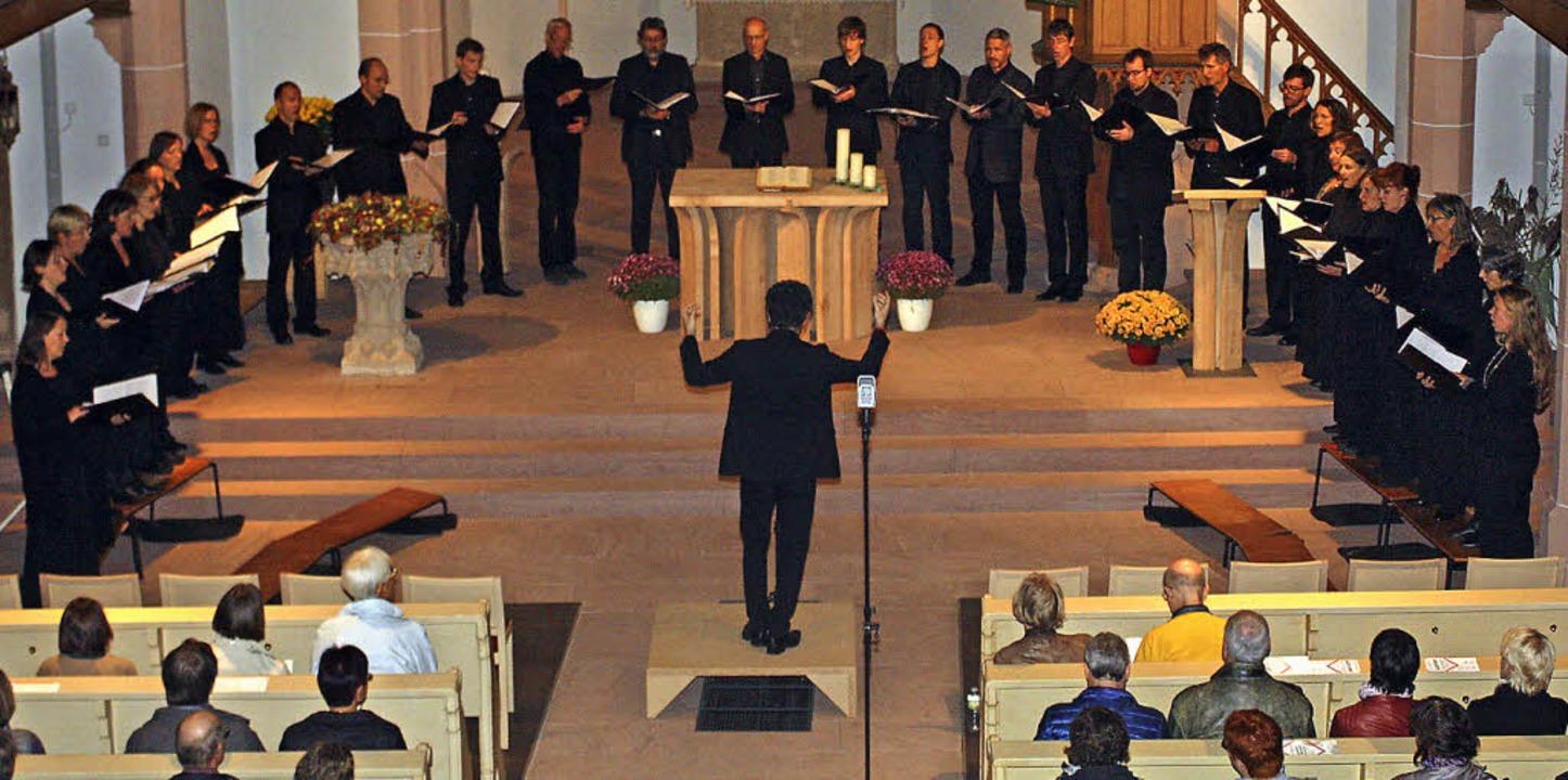 Das John Sheppard Ensemble  in der Eichstetter Kirche   | Foto: Herbert Binninger