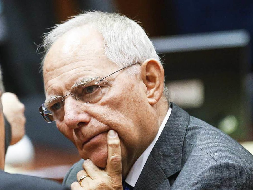 Finanzminister Wolfgang Schäuble  | Foto: dpa