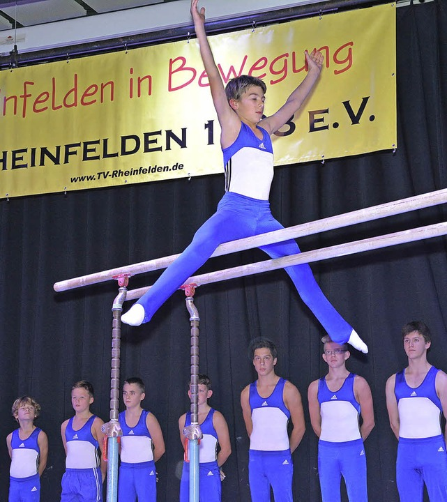 Die hohe Kunst des Geräteturnens präse...um den TVR-Erfolgstrainer Sandro Dathe  | Foto: Heinz Vollmar