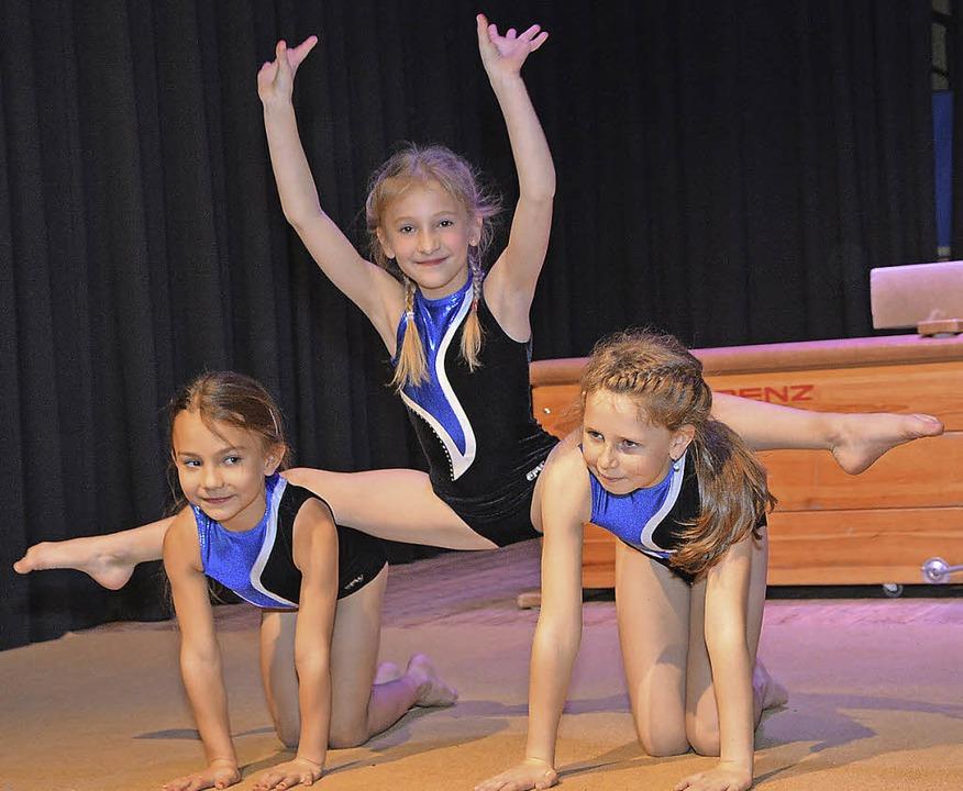 Die jüngsten Turnerinnen zeigten eine kleine Turnstunde.  | Foto: Heinz u. Monika Vollmar