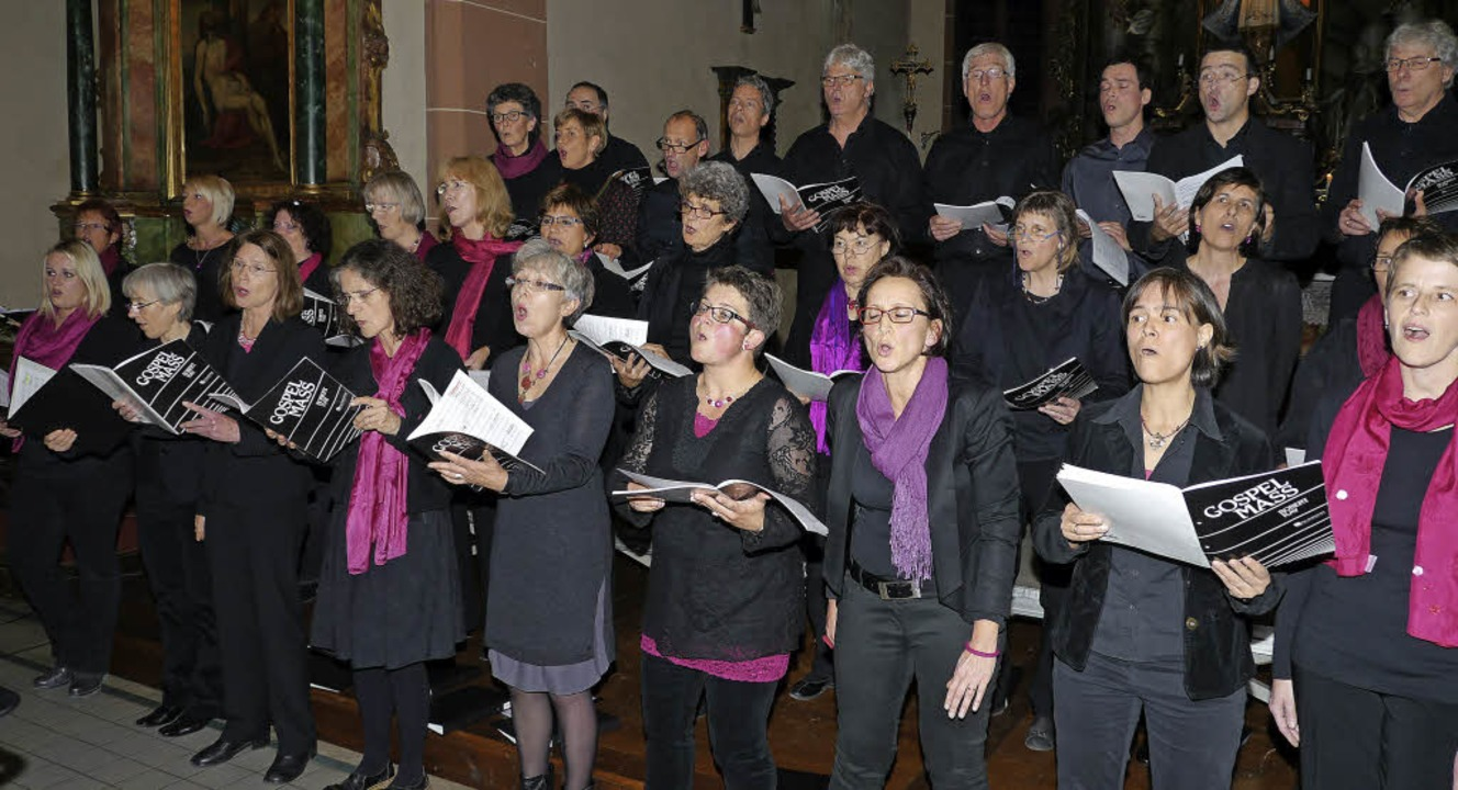 Ausdrucksstark und bewegend: So führte... die Gospelmesse von Robert Ray auf.    | Foto: Christel Hülter-Hassler