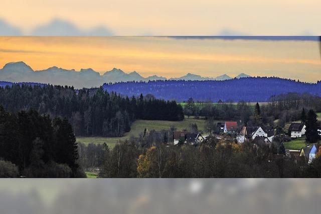 Blick auf die Alpenkette