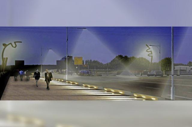 Laternenwald auf der Kinzigbrücke soll gelichtet werden