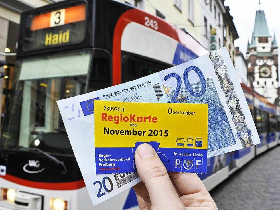 Die Regiokarte als Sozialticket soll v...urg mit 20 Euro subventioniert werden.  | Foto: Thomas Kunz