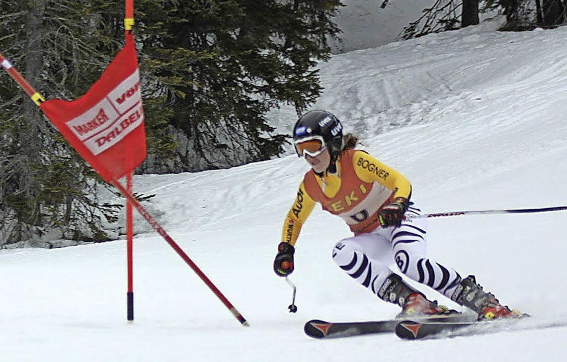 Shannon Löffelholz gehört auch zur IG Ski Alpin Hochschwarzwald.  | Foto: Martin Siegmund