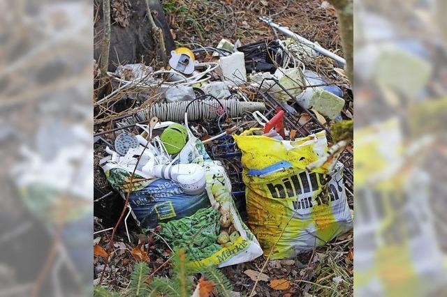 Wilde Müllkippe in Eisenbacher Wohngebiet