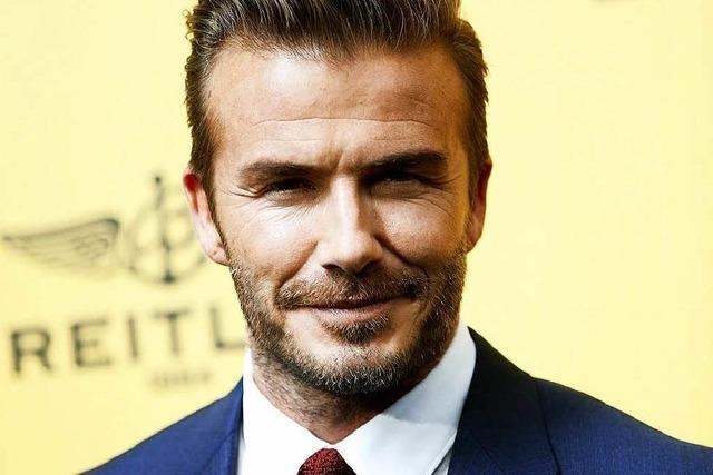 Fußballstar David Beckham zum