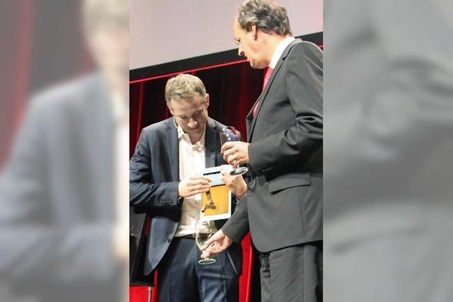 Bei Simon Pierro fließt das Bier aus dem iPad