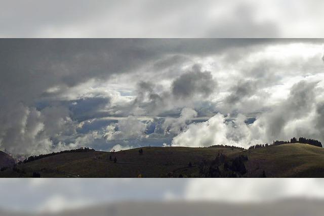 Regenwolken am Horizont