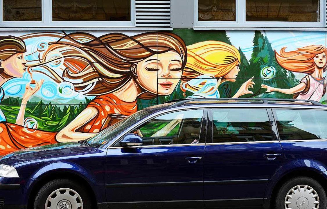 Farbe für die Rosastraße  | Foto: Ingo Schneider
