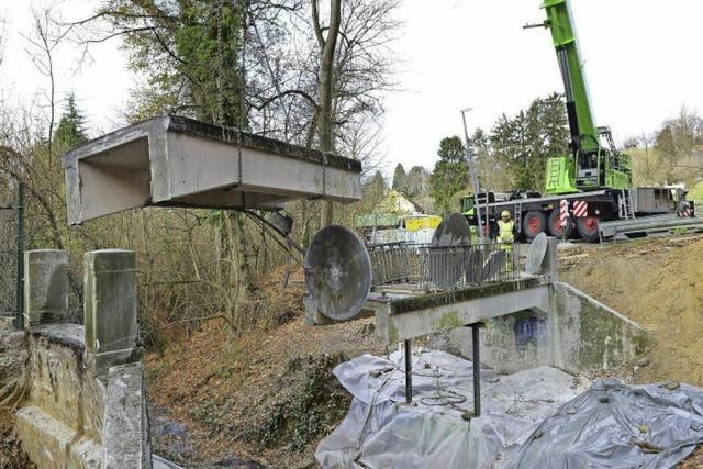 Der alte Waltersbergsteg in Freiburg ist abgerissen