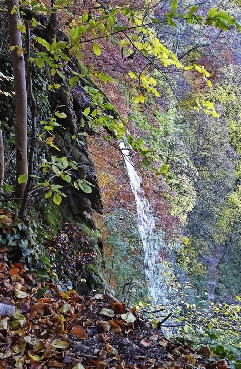 "Zeigt Kante: der ""konstruktive Wasserfall"" bei Bad Urach  | Foto: Rolf Müller"