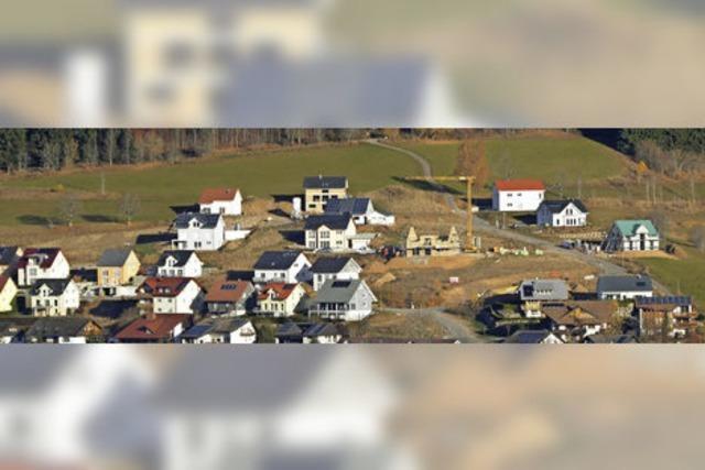 Neubaugebiet wächst Richtung Berg
