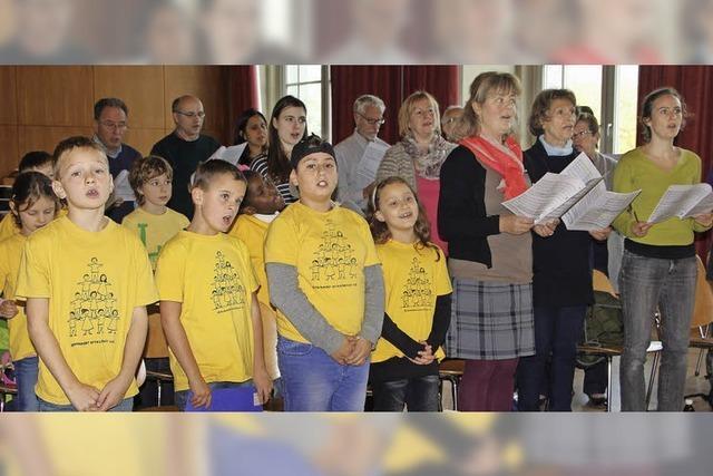 Kammerchor mit Schülern