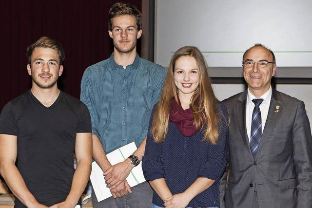 Drei Preisträger der Burger-Stiftung