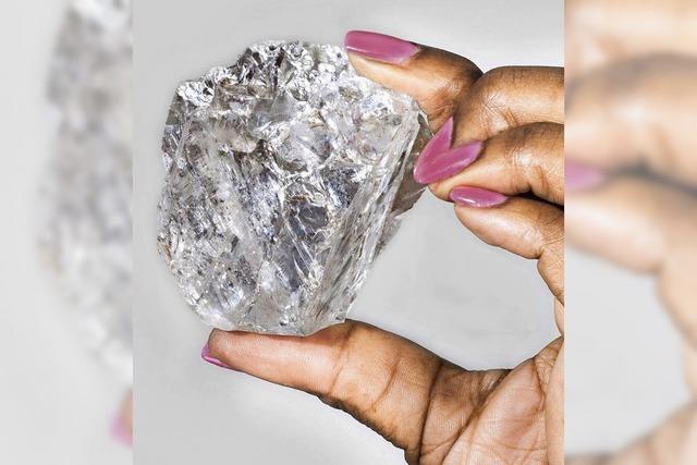 Diamant so groß wie Tennisball