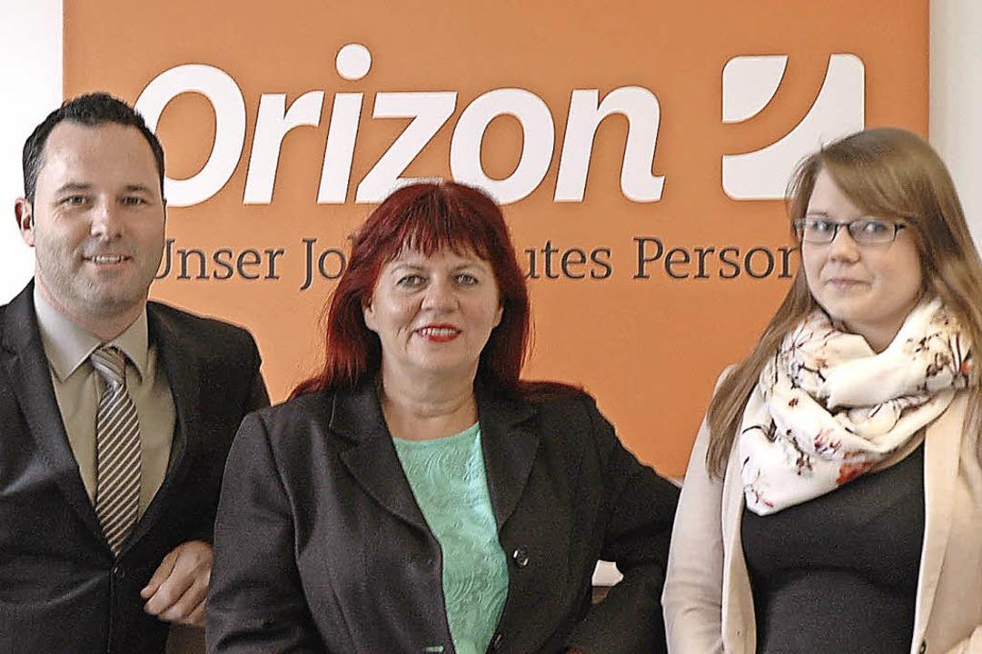 Das Team von Orizon in Lörrach: Nieder..., Heidi Burkhardt und Sabrina Steimle     Foto: HWu