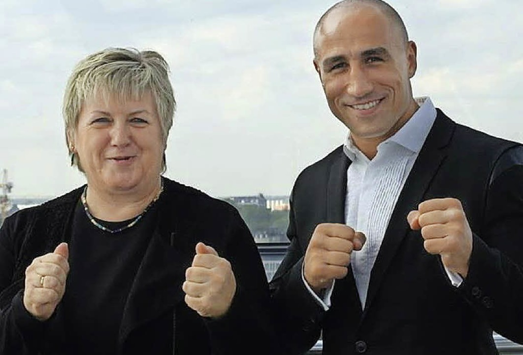 Box! Kordula Kovac und Artur Abraham     Foto: pr