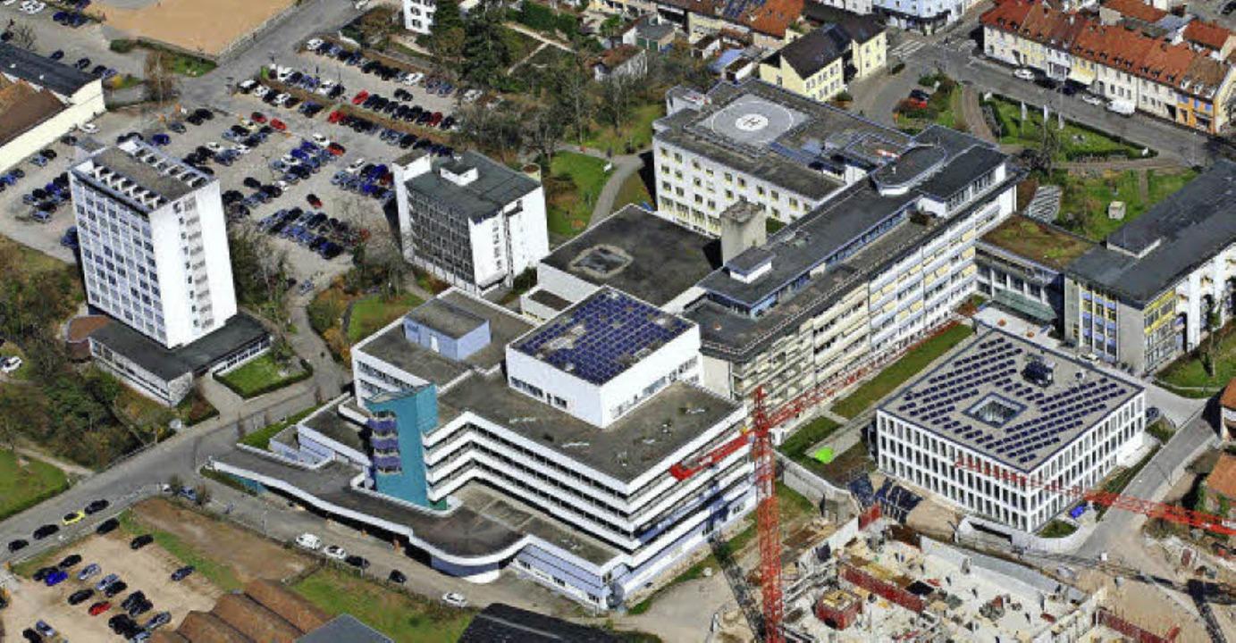Das Klinik-Areal in Lörrach stünde nac...schenzeitlich weiter fortgeschritten.     Foto: Erich Meyer