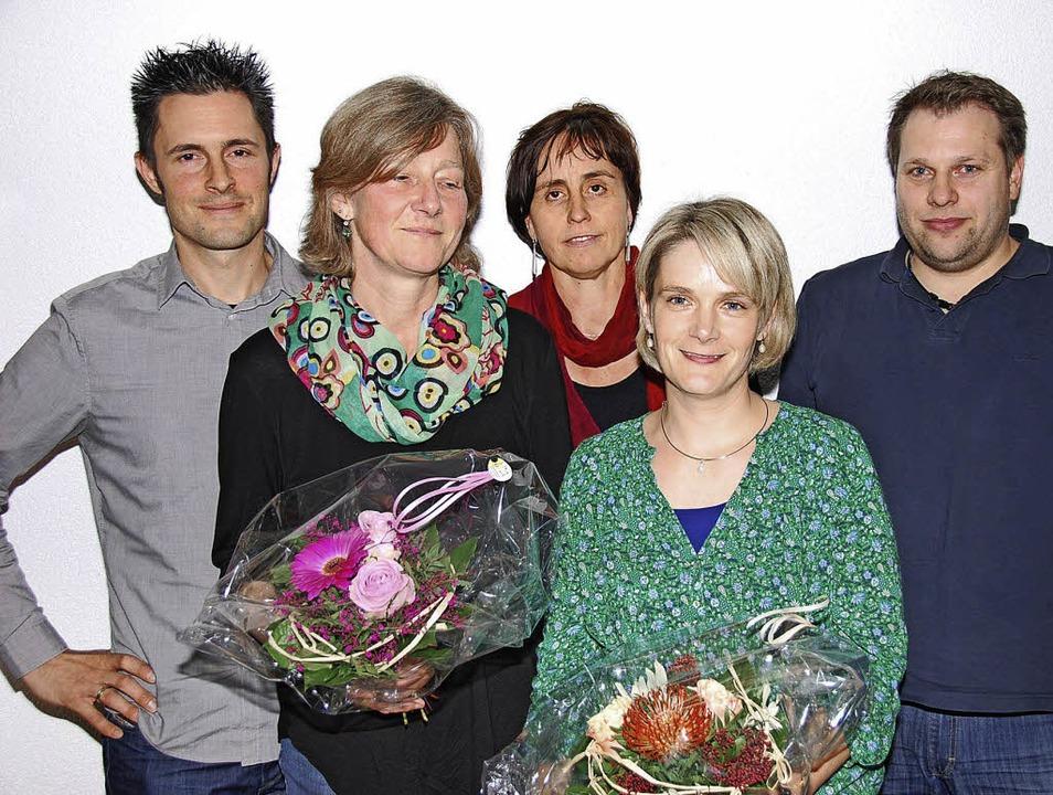 Neuer Vorstand des Familienzentrums (v... Peither, Carmen Frank, Stefan Dusch.     Foto: Edgar Steinfelder