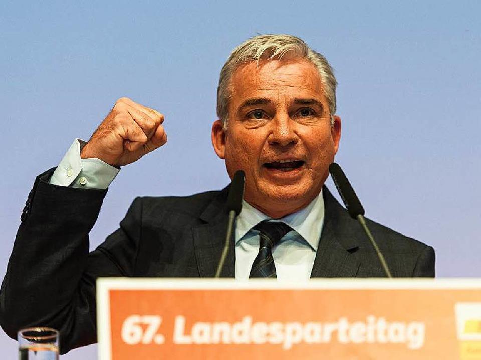 Landeschef Thomas Strobl wurde für weitere zwei Jahre bestätigt.  | Foto: dpa
