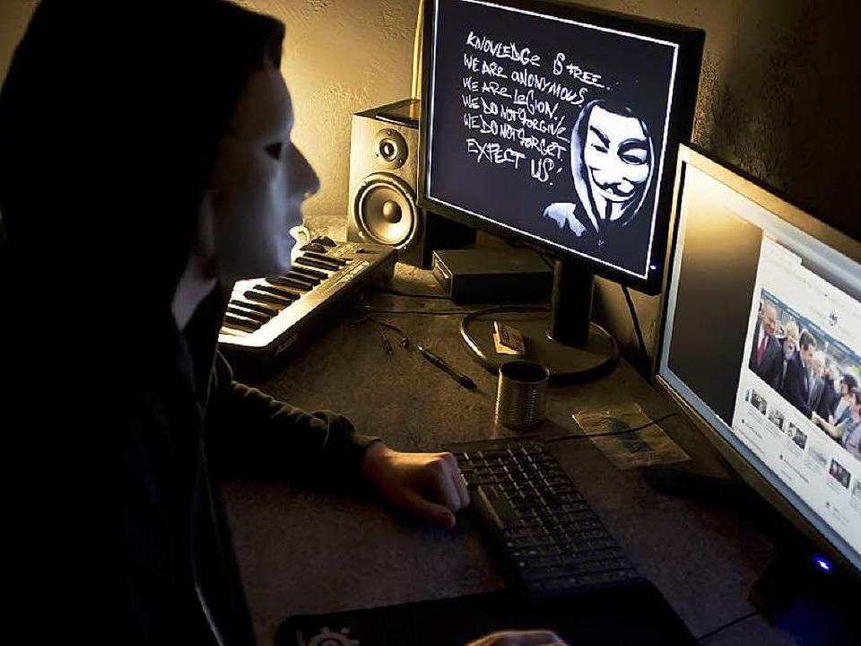Maskierter Anonymous-Hacker  | Foto: AFP