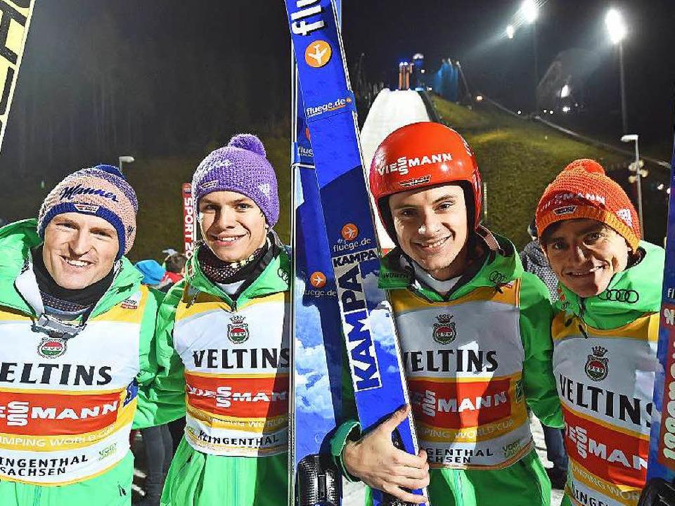 Die fantastischen Vier mit Andreas Wank (Zweiter von rechts).  | Foto: dpa