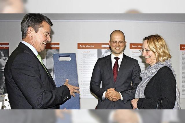 Lettlands Kultusministerin zu Gast