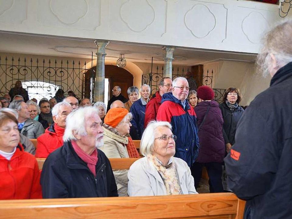 Voller Besucher war die Berghauser Kapelle.    Foto: Andrea Gallien