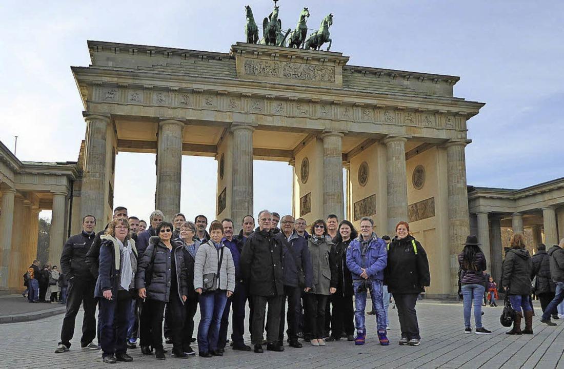 Erinnerungsfoto vor dem Brandenburger Tor  | Foto: privat