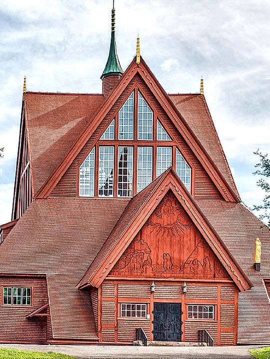 <BZ-FotoAnlauf>Gulbranssonkirche:</BZ-... die Stabkirche in Kiruna (Lappland).   | Foto: Privat