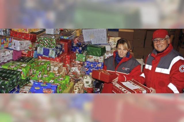 Weihnachtsgeschenke für Rumänien