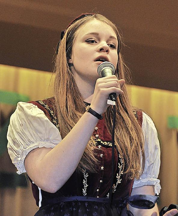 Julia Laubers Gesangseinlage war ein Höhepunkt.   | Foto: Kirsten Lux