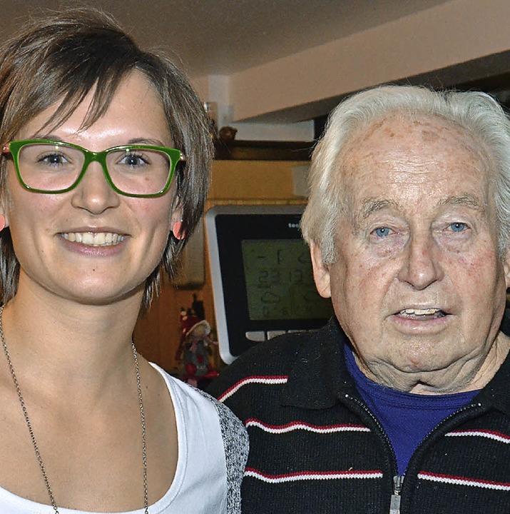 Anika Schlegel und Hermann Müller wurd...jährige Mitgliedschaft ausgezeichnet.   | Foto: Straub