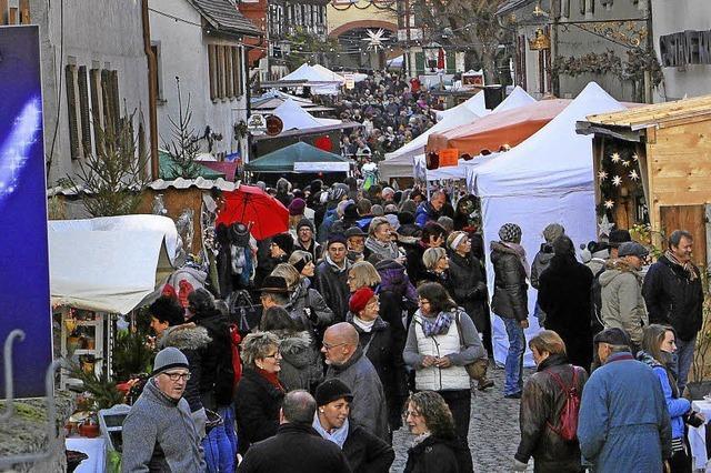 Tausende Besucher auf dem Vogtsburger Weihnachtsmarkt
