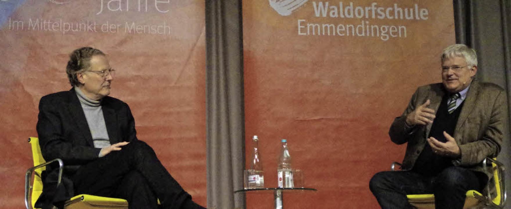 Beziehung und Bildung hängen zusammen....aldorfpädagogen Henning Kullak-Ublick.  | Foto: Katharina Bächle