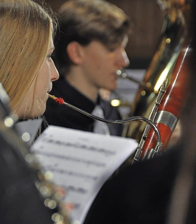 Das Verbandsjugendorchester gestaltete die Feier musikalisch.  | Foto: Daniel Gramespacher