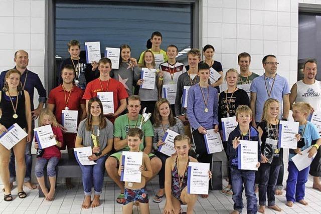 Die schnellsten Schwimmer im Maulburger Becken