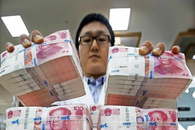 China: Der Yuan rückt zu Euro und Pfund auf