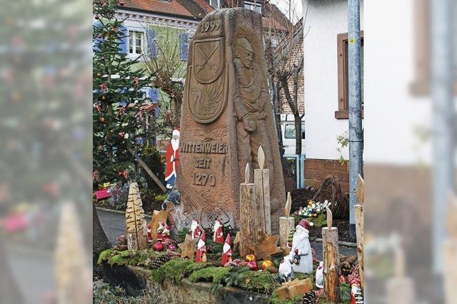 Weihnachtsbrunnen in Wittenweier