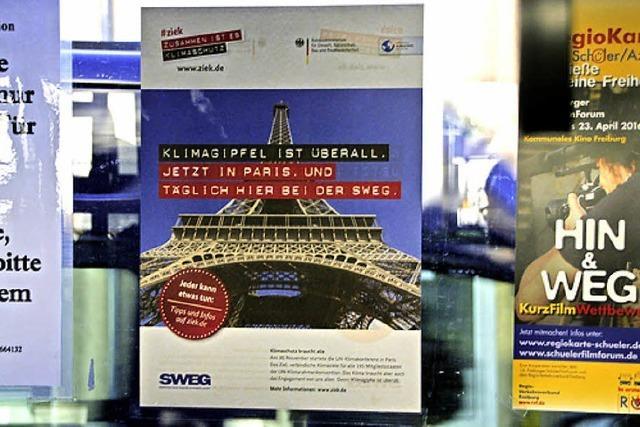 Werbung zum Klimagipfel