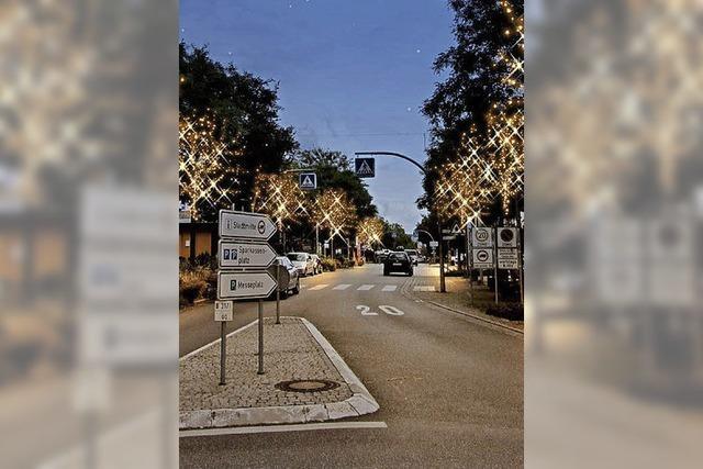 Lichter strahlen in der Weihnachtszeit