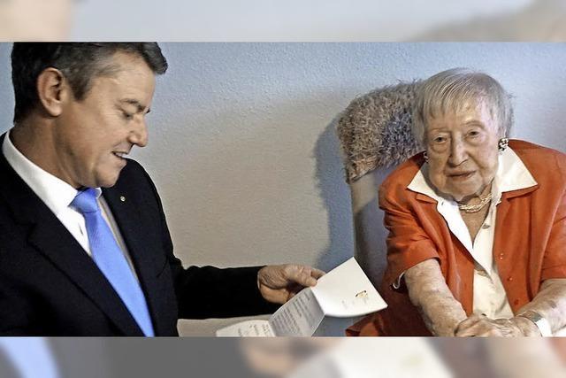 Mit Gutedel und Gymnastik bis zum 107. Geburtstag