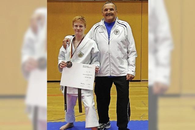 Bronzemedaille für Karateka Marius Werz