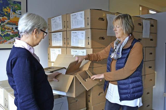 Zeller Grundbücher in 300 Kartons abtransportiert